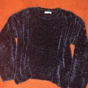 Blue velvet Pacsun/LA Hearts sweater